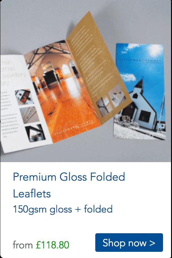 gloss folded leaflets
