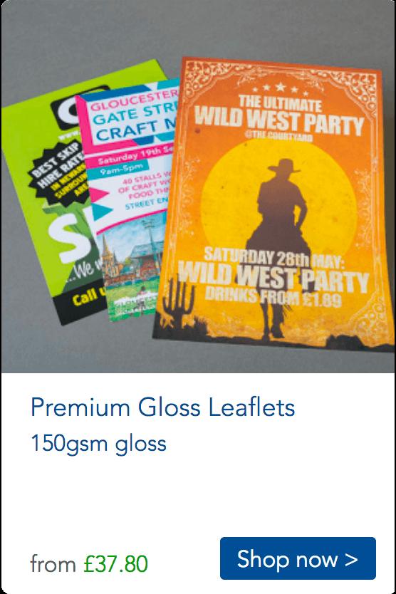 a5 gloss leaflets