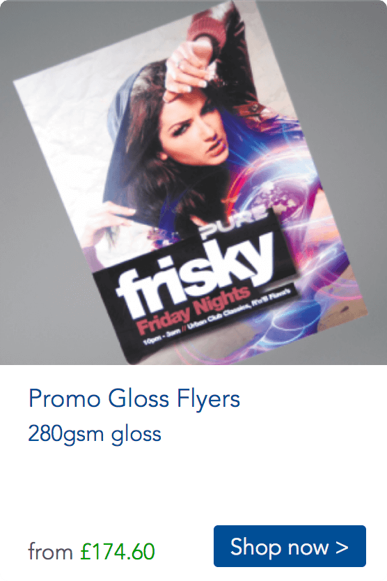printed promo flyers