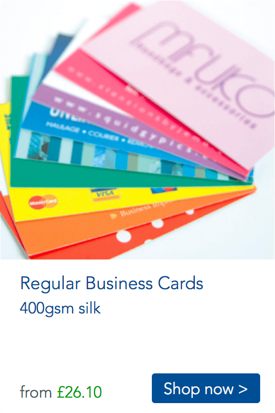 regulare business cards various