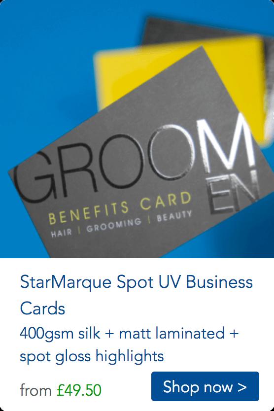 uv spot business cards